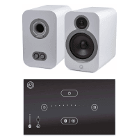 Home Music System with Black Systemline E50 & Q Acoustics 3030i Speakers - Arctic White