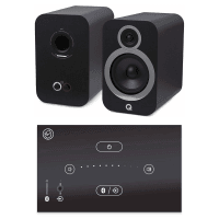 Home Music System with Black Systemline E50 & Q Acoustics 3030i Speakers - Carbon Black