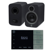 Home Music System with Systemline E100 & Q Acoustics 3030i Speakers - Graphite Grey