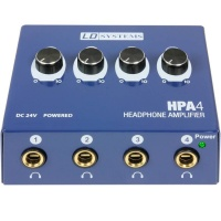 HPA 4 Headphone Amplifier by LD Systems - 4Ch Headphone Amp - B STOCK NO BOX