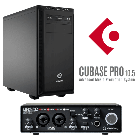 i7 EVO PRO Music PC With Cubase Pro 10.5 & UR22C Interface
