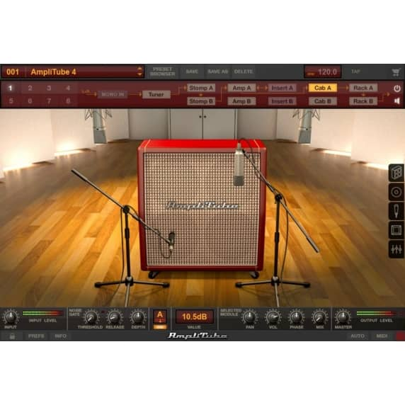 IK Multimedia AmpliTube 4 Deluxe Guitar Amp FX Software (Serial Download)