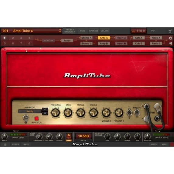 IK Multimedia AmpliTube 4 Guitar Amp FX Software (Serial Download)