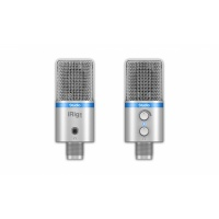 IK Multimedia iRig Studio - Digital Microphone for iPhone, iPad, Mac, PC & Android Silver