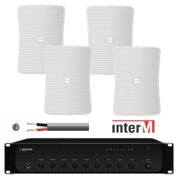 Inter-M 240W Background Music System with 4x 50W Wall Speakers