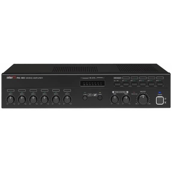 Inter-M PA60A Professional 60W 100V/Low Impedance Mixer Amplifier