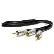 iPod/iPad to 100v Line Amp - Premium Quality Cable (3.5mm Jack to Phono)