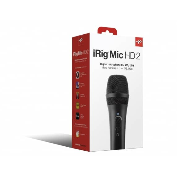 iRig Mic HD 2 - Handheld Condenser Mic for iOS and Android