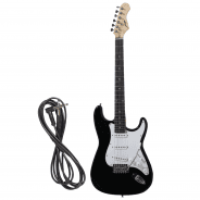 Johnny Brook 22 Fret Stratocaster Style Electric Guitar - Black