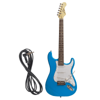 Johnny Brook 22 Fret Stratocaster Style Electric Guitar - Blue