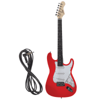 Johnny Brook 22 Fret Stratocaster Style Electric Guitar - Red