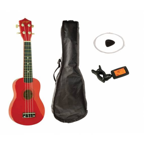 Johnny Brook Soprano Ukulele Kit (Red)