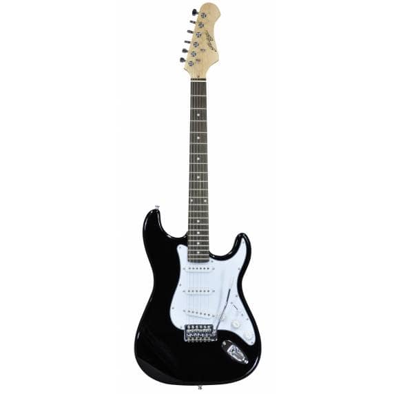 Johnny Brook Stratocaster Style Electric Guitar (Black)