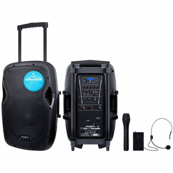 "Kam 12"" 800W Portable Active PA Speaker with Bluetooth"