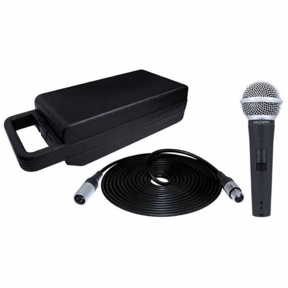 Kam KDM580 Dynamic Microphone with Carry Case and XLR Cable