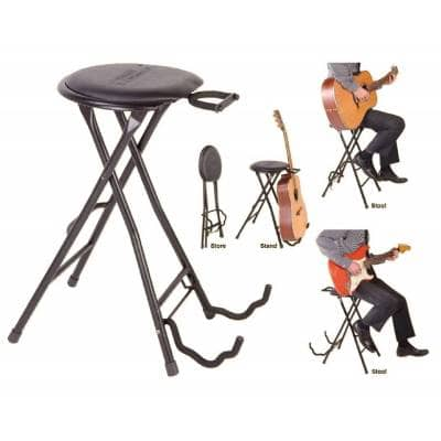 Cool Kinsman Guitarist Dual Stool Stand Guitar Holder Kgs Squirreltailoven Fun Painted Chair Ideas Images Squirreltailovenorg