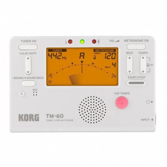 Korg TM-60 Combo Tuner/Metronome   White