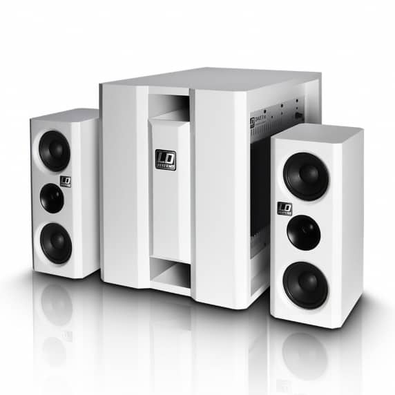 LD Systems DAVE 8XS - Compact Active PA System - White