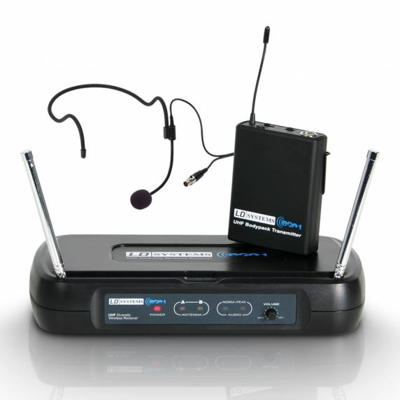 LD Systems LDWSECO2BPH1 - Wireless Microphone System with Belt Pack and Headset