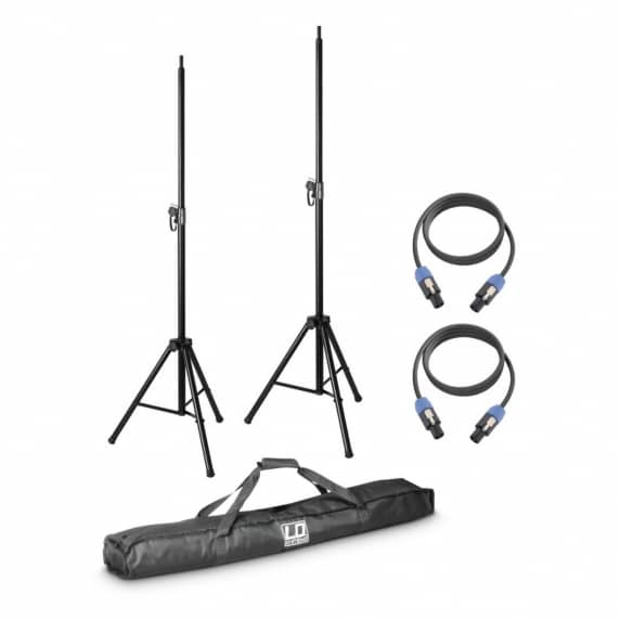 LD Systems Speaker Stand Kit with Bag and Cables (DAVE8SET2)