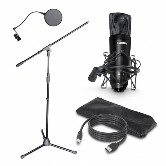 LD Systems USB Microphone, Stand & Pop Filter (PODCAST 2)