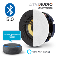 "Lithe Audio 6.5"" Bluetooth Ceiling Speaker + Echo Dot 3rd Gen"