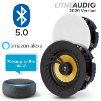 "Lithe Audio 6.5"" Bluetooth Ceiling Speakers (Pair) + Echo Dot 3rd Gen"