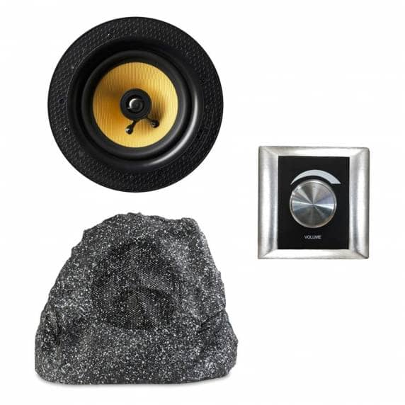 Lithe Audio All-In-One Bluetooth Ceiling Speaker & Rock Speaker Kit