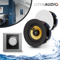 Lithe Audio Bedroom & En-Suite Bluetooth Ceiling Speakers (Master+Slave)