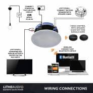 Lithe Audio IP44 Bluetooth Ceiling Speaker - NEW 2020 Version