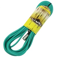 Livewire 10m XLR Microphone Cable - Balanced Male to Female XLR Mic Lead - Green