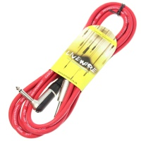 Livewire 3m Jack to Angled Jack Guitar Lead - Red Instrument Cable