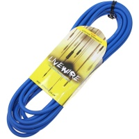 Livewire 6m Jack to Angled Jack Guitar Lead - Blue Instrument Cable