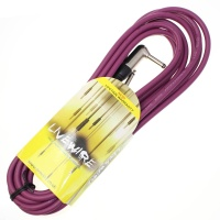 Livewire 6m Jack to Angled Jack Guitar Lead - Purple Instrument Cable