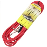 Livewire 6m Jack to Angled Jack Guitar Lead - Red Instrument Cable