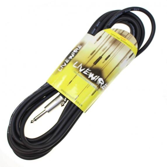 Livewire 6m Jack to Jack Guitar Lead - Black Instrument Cable ...