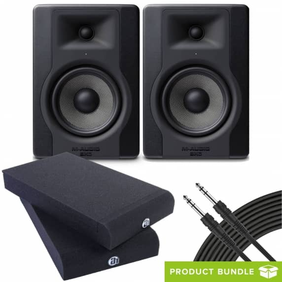 M-Audio BX5 D3 (Pair) with Isolation Pads & Cables