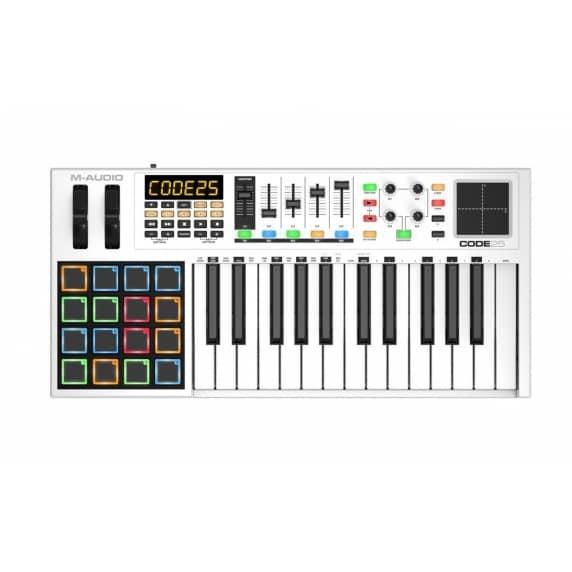M-Audio Code 25 - USB Midi Controller Keyboard (White)