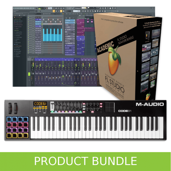M-Audio Code 61 Keyboard and FL Studio 20 Educational Bundle