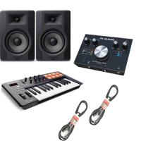 M-Audio Producer Bundle (BX5 D3, M-TRACK 2X2, OXYGEN 25 & Cables)