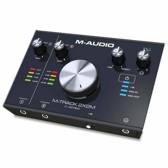 M-Track 2X2M 2-In / 2-Out 24/192 USB Audio/MIDI Interface
