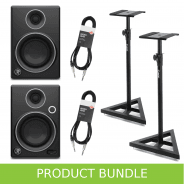 Mackie CR3 Limited Edition Stands & Cables Bundle