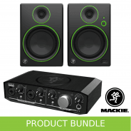 Mackie CR4 and Onyx Pro 2.2 Home Studio Recording Bundle
