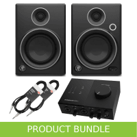 Mackie CR4 Limited Edition and Komplete Audio 2 and Cables Bundle