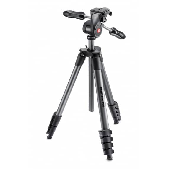 Manfrotto Compact Advanced Tripod with 3-Way Head - Black