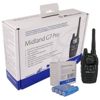midland g7 pro pmr radio walkie talkie licence free single from inta audio uk. Black Bedroom Furniture Sets. Home Design Ideas