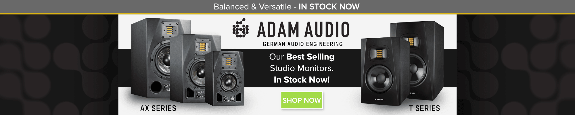 ADAM Audio AX & T-Series Studio Monitors | Inta Audio