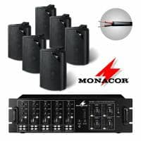 Monacor 6 Speaker 4 Zone Background Music System