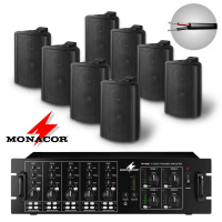 Monacor 8 Speaker 4 Zone Background Music System