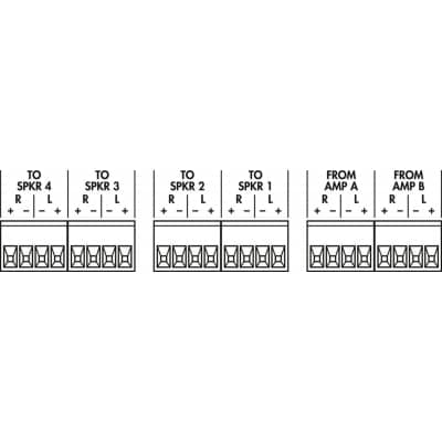 Monacor ATT-442ST 4-Channel Stereo Speaker Volume Control Switch